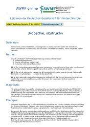 AWMF online - Leitlinie Kinderchirurgie: Uropathie obstruktiv