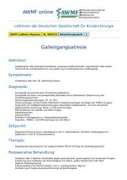 AWMF online - Leitlinie Kinderchirurgie: Gallengangsatresie