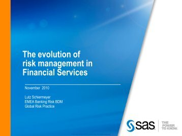 SAS® Risk Management for Banking