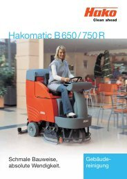 Hakomatic B 650 / 750 R - Stangl Reinigungstechnik GmbH