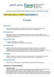 AWMF online - Leitlinie Kinderchirurgie: Erysipel