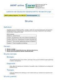 AWMF online - Leitlinie Kinderchirurgie: Struma