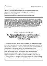 Die Kommunikationsmedien Internet und - Mediaculture online