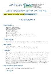 AWMF online - Leitlinie Kinderchirurgie: Trachealstenose