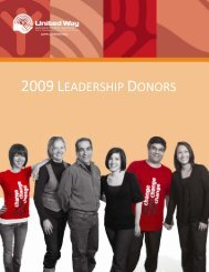 2009 LEADERSHIP DONORS - United Way KW & Area