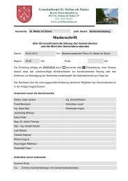 Niederschrift - Gemeinde St. Stefan ob Stainz