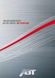 VON DER RENNSTRECKE AUF DIE STRASSE. ABT ... - Audi