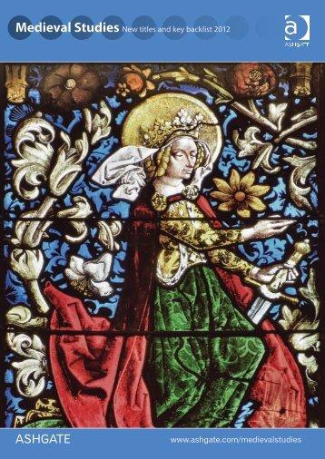 Medieval Studies - Ashgate