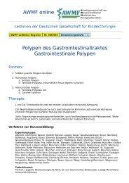 AWMF online - Leitlinie Kinderchirurgie: Polypen des ...