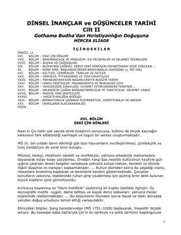 Dinsel nançlar ve Düünceler Tarihi-II - Mircea Eilade