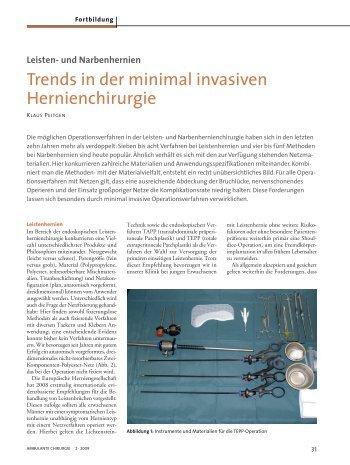 Trends in der minimal invasiven Hernienchirurgie - und ...