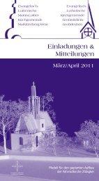 März/April 2011 - Martin-Luther-Kirchgemeinde Markkleeberg