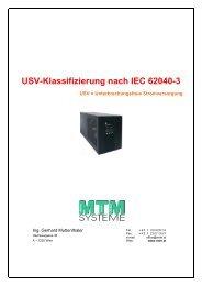USV-Klassifizierung nach IEC 62040-3 (pdf) - MTM