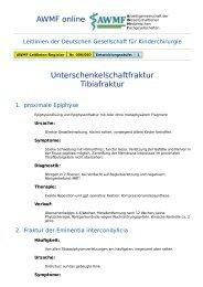 AWMF online - Leitlinie Kinderchirurgie: Unterschenkelschaftfraktur ...