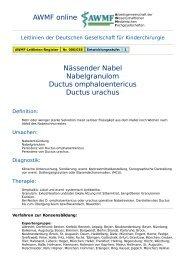 AWMF online - Leitlinie Kinderchirurgie: Nässender Nabel ...