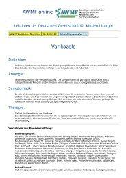 AWMF online - Leitlinie Kinderchirurgie: Varikozele