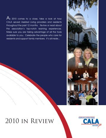 2010 in Review - California Assisted Living Association