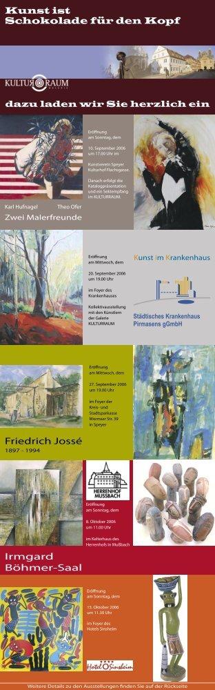 Kunst ist Schokolade für den Kopf Friedrich Jossé Irmgard Böhmer ...