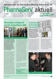 PharmaServ erfolgreich auf der TechnoPharm 2004
