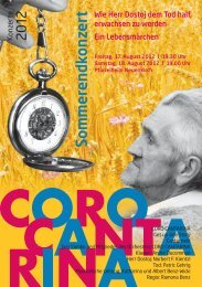 Programm (pdf) - Coro Cantarina