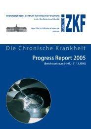 Die Chronische Krankheit Progress Report 2005 - bei der ...