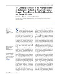 The clinical significance of the prognostic value of radionuclide ...