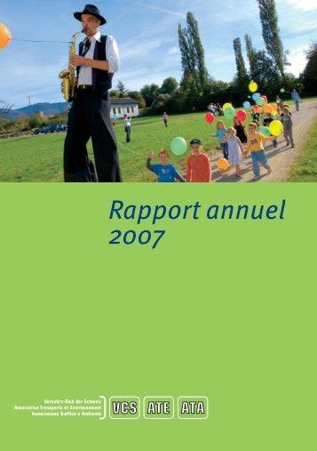 Rapport annuel 2007 - ATE Association transports et environnement