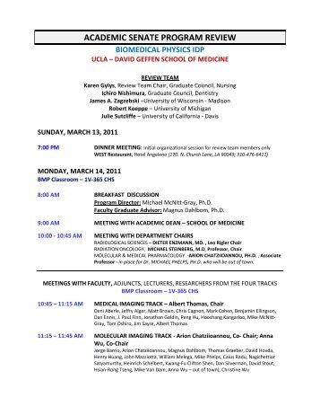 ACADEMIC SENATE PROGRAM REVIEW - UCLA Academic Senate