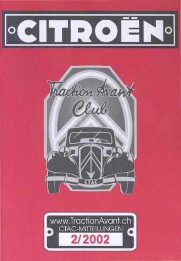 Redaktionsschluss für Heft 3/2002 - Citroen Traction Avant Club ...