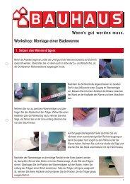 Workshop: Montage einer Badewanne