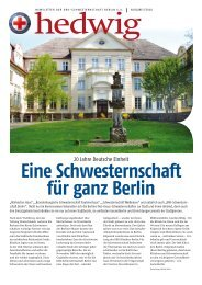 Hedwig-Newsletter 09 V6.indd - DRK-Schwesternschaft Berlin