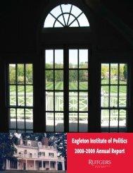 Eagleton Institute of Politics 2008-2009 Annual Report