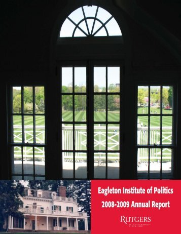 Eagleton Institute of Politics 2008-2009 Annual Report
