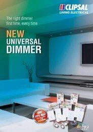 7-0 131324 SCHELE Clipsal Dimmer Brochure.indd - clipsal.co.nz