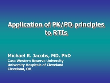 Applications of PK/PD to Respiratory Tract Infections