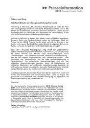 20 Jahre Neue Wege - GEHE Pharma Handel GmbH