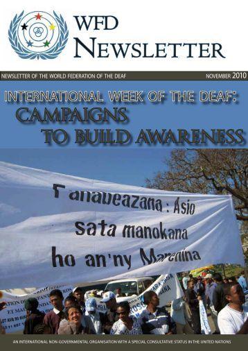 wfd newsletter november 2010.pdf - University of Central Lancashire