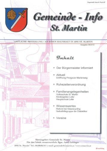 Gemeüzae - Infa - Gemeinde St. Martin bei Lofer