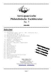 Antiquariat - Katalog download - PHILATHEK