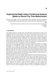 Experimental Radio Indoor Positioning Systems Based on ... - InTech