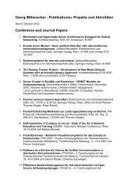 Publikationen, Projekte und betreute Abschlussarbeiten