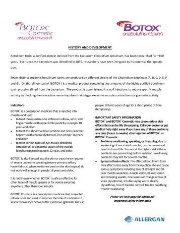 BOTOX® COSMETIC Prescribing Information - Allergan