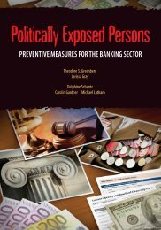 preventive measures for the banking sector - United Nations Office ...