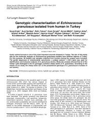 Genotypic characterisation of Echinococcus granulosus isolated ...