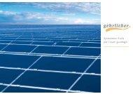 Spremiamo il sole per i vostri guadagni - Gehrlicher Solar