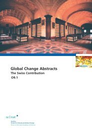 Global Change Abstracts The Swiss Contribution - SCNAT