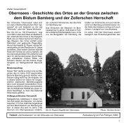 Obernsees - Geschichte des Ortes an der Grenze ... - Mistelgau