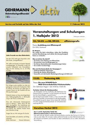 Gehrmann Newsletter7 EW.indd - Gehrmann Elektrofachgroßhandel