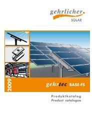 Produktkatalog Product catalogue - Gehrlicher Solar