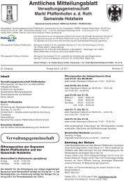 Gemeinde Holzheim - Markt Pfaffenhofen
